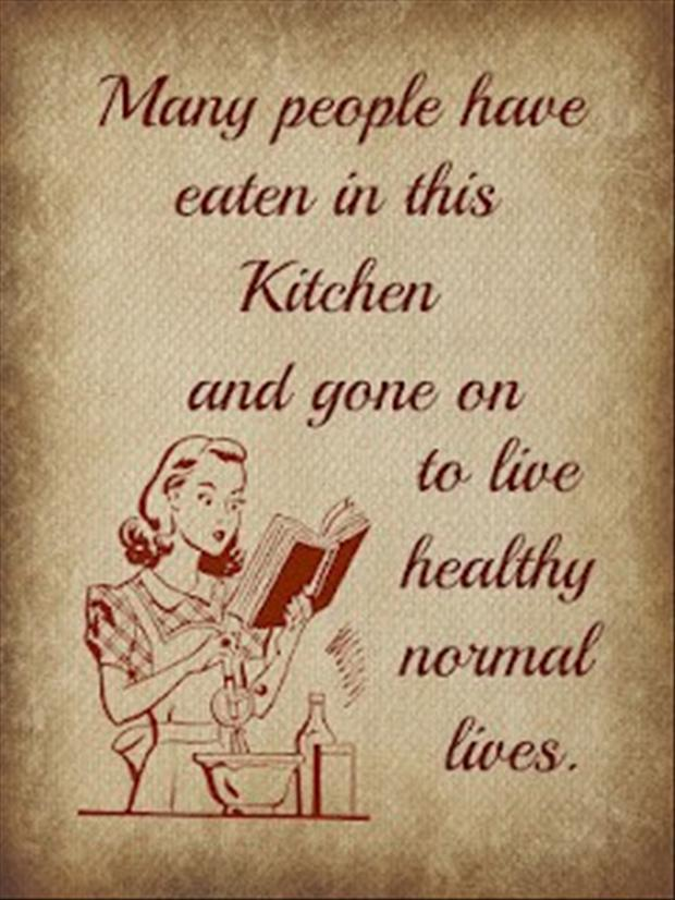 view full size - Funny Kitchen Quotes