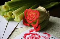 Celery-Rose-Stamping-craft-ideas